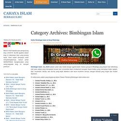 Bimbingan Islam « Cahaya Islam