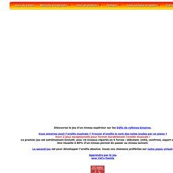 Les rythmes binaires : jeu gratuit de François Petit pour apprendre à trouver un bon ryhtme joué au piano ou sur une percussion