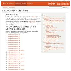 BinaryDriverHowto/Nvidia