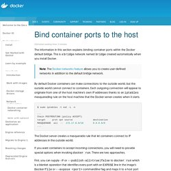 Bind container ports to the host - Docker
