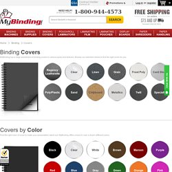 Binding Covers and Report Covers