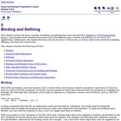 Binding and Defining