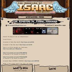 (BETA) The Binding of Isaac: Godmode - Modding of Isaac
