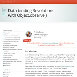 Data-binding Revolutions with Object.observe()