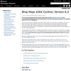 Virtual Earth Map Control SDK 6.2
