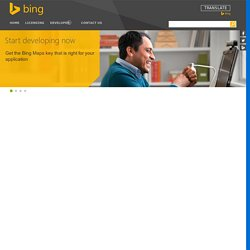Bing Maps: Create a Bing Maps Key