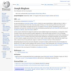 Joseph Bingham