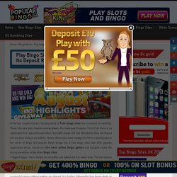 Play bingo sites with free signup bonus no deposit required