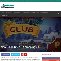 New Bingo Sites UK cropping up