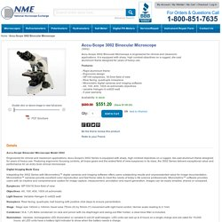 Buy Accu-Scope 3002 Binocular Microscope @ Lowest Price