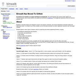 binwalk - Firmware Analysis Tool