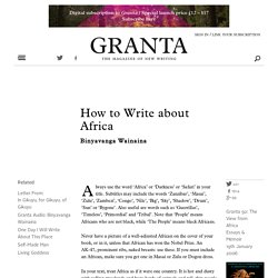 How to Write about Africa