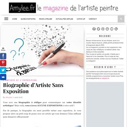 Bio d'Artiste Sans Expo