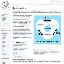 Bio-informatique