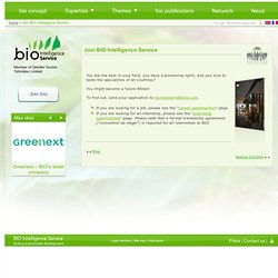 BIO Intelligence Service » Join BIO Intelligence Service