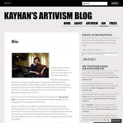 Kayhan's Artivism Blog