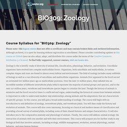 BIO309: Zoology