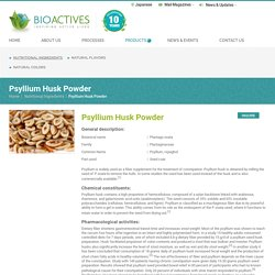 Organic Psyllium Seed Husk Powder – Bioactives Food Manufactures