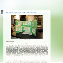 BioBlog » Mini-posters–>authentic peer review in the classroom