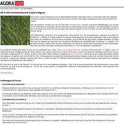 6€ le litre de biocarburant à base d'algues
