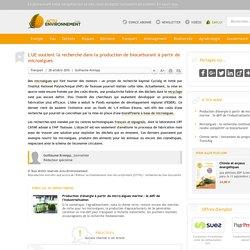 L'UE soutient la recherche dans la production de biocarburant à partir de microalgues