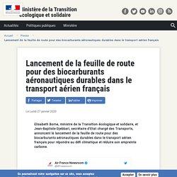 Lancement de la feuille de route pour des biocarburants aéronautiques durables dans le transport aérien français