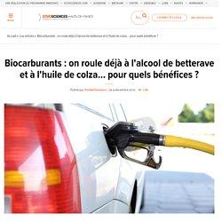 Biocarburants : on roule déjà à l'alcool de betterave et à l'huile de colza... pour quels bénéfices ?