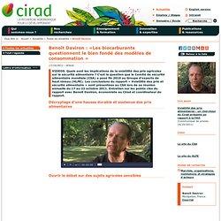Benoît Daviron : «Les biocarburants questionnent le bien fondé des modèles de consommation »