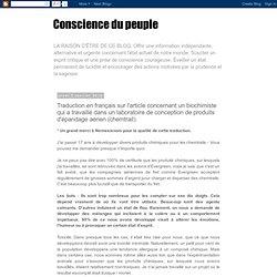 Traduction en français sur l'article concernant un biochimiste qui a travaillé dans un laboratoire de conception de produits d'épandage aérien (chemtrail)