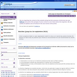 EUROPE - Biocides