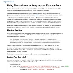 Using Bioconductor to Analyze your 23andme Data