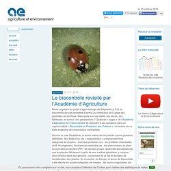 Le biocontrôle revisité par l'Académie d'Agriculture
