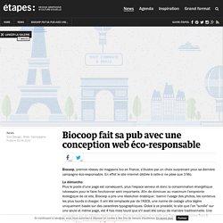 Biocoop fait sa pub avec une conception web éco-responsable