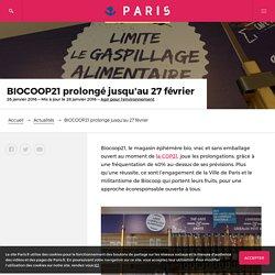 BIOCOOP21 prolongé jusqu'au 27 février