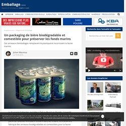 Un packaging de bière biodégradable et comestible pour préserver les fonds marins