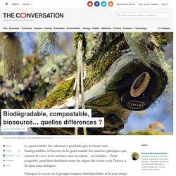 THE CONVERSATION 12/04/17 Biodégradable, compostable, biosourcé… quelles différences ?