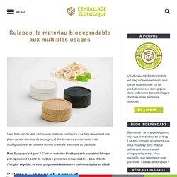 Sulapac, le matériau biodégradable