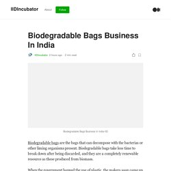 Biodegradable Bags Business In India