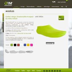 Modèles 01M One moment® 100% biodégradables chaussures