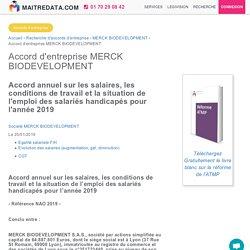 Accord d'entreprise MERCK BIODEVELOPMENT (T06919004502)