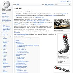 Biodiesel - Wikipedia, the free encyclopedia - (Build 2010040106