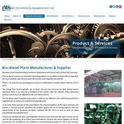 Biodiesel Plant Manufacturer, Supplier & Exporter
