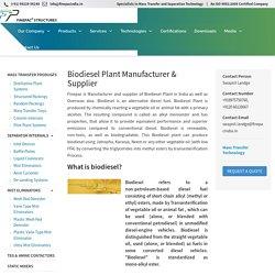 Biodiesel Plant Manufacturer in India - Finepac