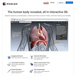 BioDigital Human: Features for Education, Providers and Business