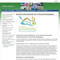 Diversité biologique; Journée internationale de la diversité biologique; JIB