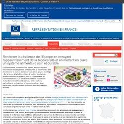 EUROPA_EU 20/05/20 Renforcer la résilience de l'Europe en enrayant l'appauvrissement de la biodiversité et en mettant en place un système alimentaire sain et durable
