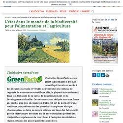 L'état dans le monde de la biodiversité pour l'alimentation et l'agriculture