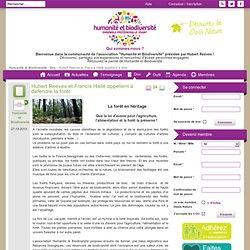 Hubert Reeves et Francis Hallé appellent à défendre la forêt