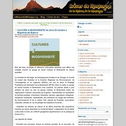 CULTURE et BIODIVERSITE les 24 et 25 octobre à Bagnères-de-Bigorre - Brèves de Montagne