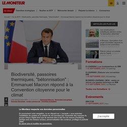 """Biodiversité, passoires thermiques, """"bétonnisation"""" : Emmanuel Macron répond à la Convention citoyenne pour le climat"""